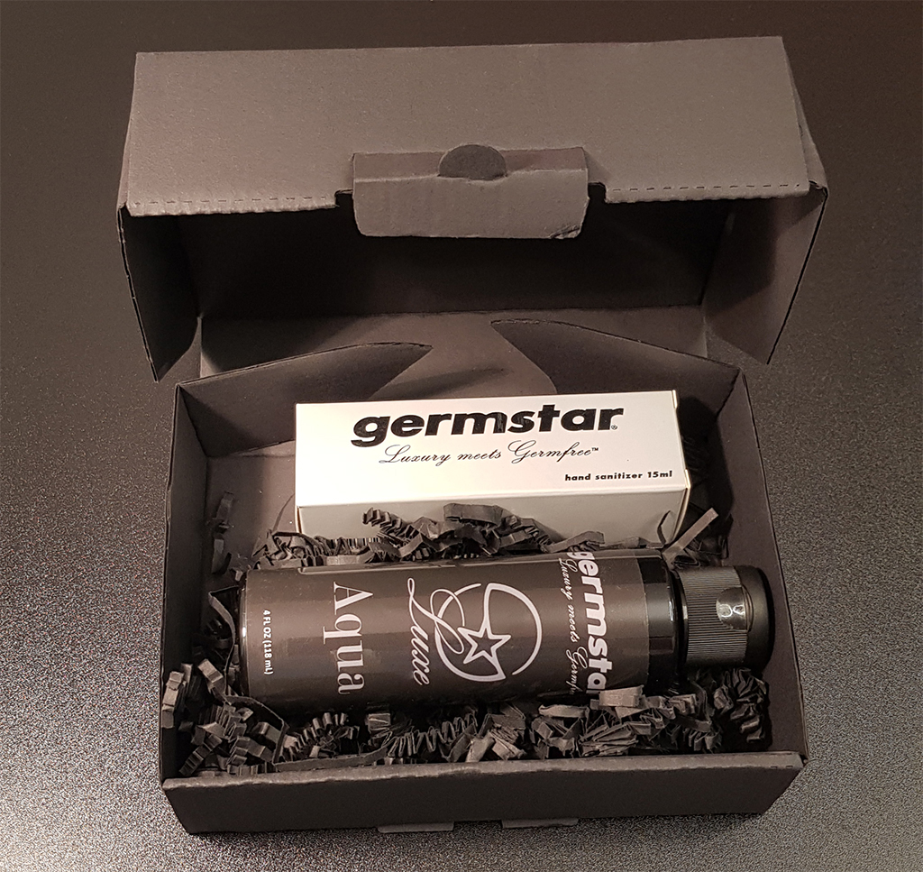 SET: Luxe SILVER Spray (1) + Refill (1) 1 Handspray à 15ml, Duft AQUA (UNISEX) + 1 Nachfüllflasche à 118ml (UNISEX)