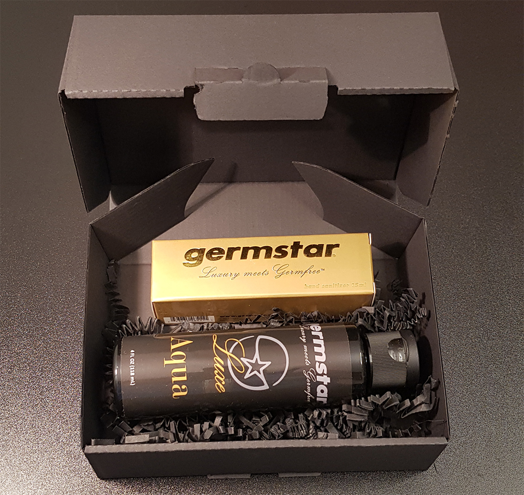 SET: Luxe GOLD Spray (1) + Refill (1) 1 Handspray à 15ml, Duft AQUA (UNISEX) + 1 Nachfüllflasche à 118ml (UNISEX)