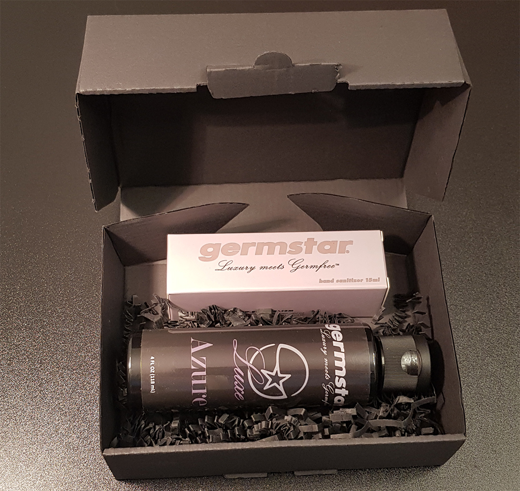 SET: Luxe SPACE Spray (1) + Refill (1) 1 Handspray à 15ml, Duft AZURE (MEN) + 1 Nachfüllflasche à 118ml (MEN)