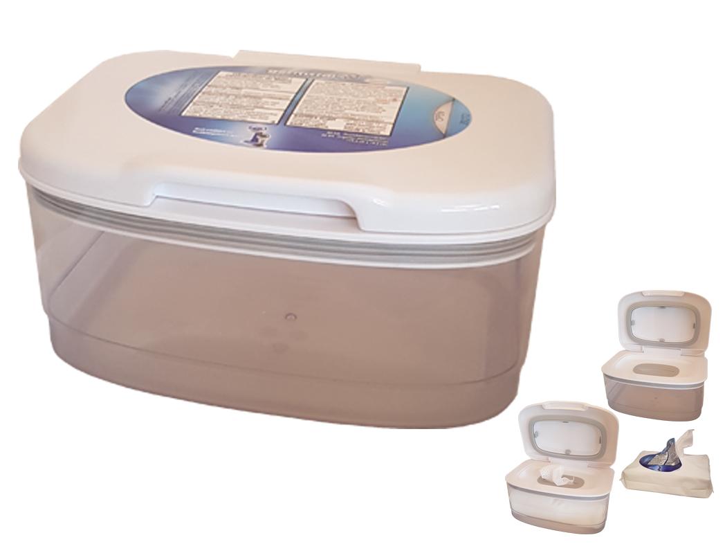 SpenderBOX (weiss, leer) für Handdesinfektionstücher 1 HanddesinfektionstücherSpenderBOX (WH, leer)