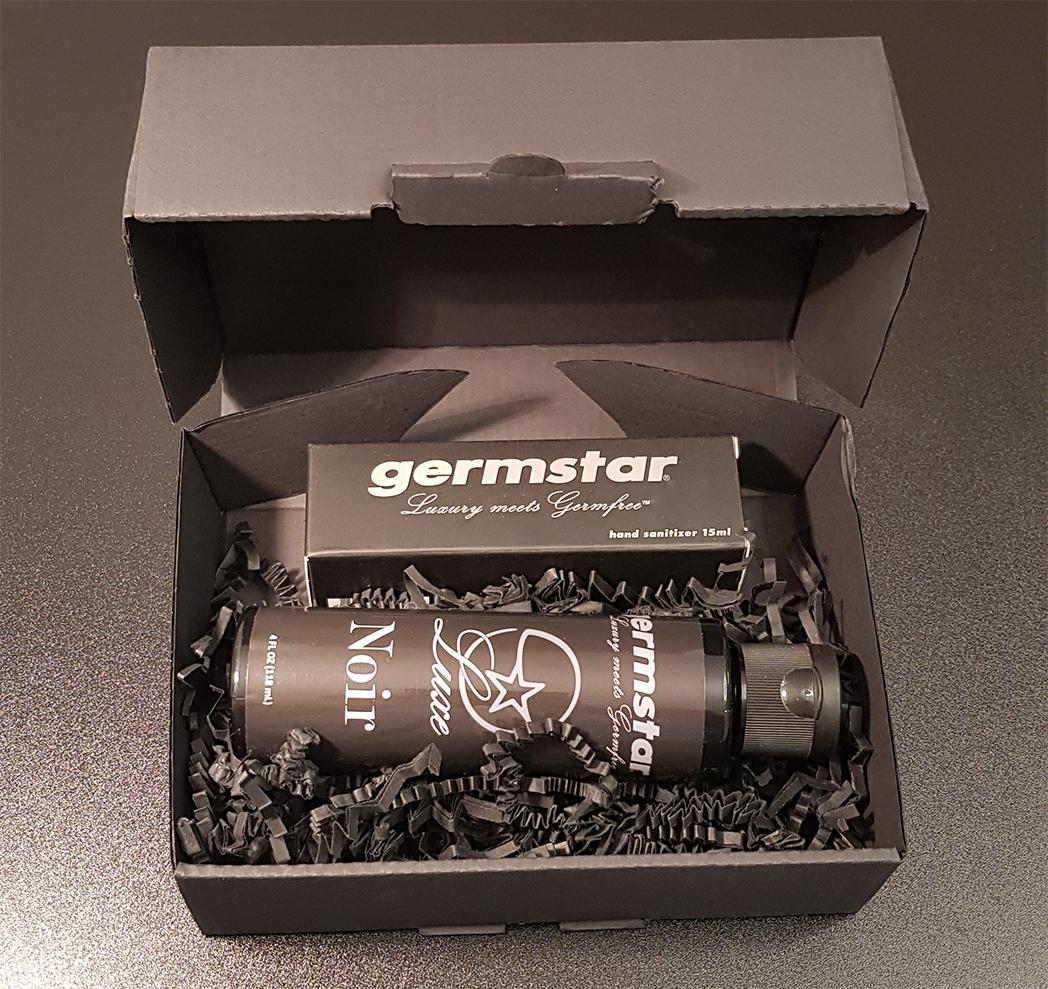 SET: Luxe BLACK Spray (1) + Refill (1) 1 Handspray à 15ml, Duft NOIR (UNISEX, MEN) + 1 Nachfüllflasche à 118ml (NOIR)